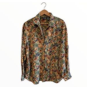 Liz Wear Vintage Floral Long Sleeve Button up